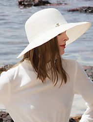 cheap -Polyester Straw Hats with Rhinestone 1pc Casual / Daily Wear Headpiece