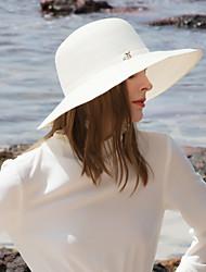 abordables -Polyester Chapeaux de paille avec Strass 1pc Décontracté / Usage quotidien Casque