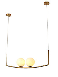 cheap -2-Light 15 cm Chandelier Metal Contemporary / Nordic Style 110-120V / 220-240V