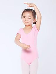 cheap -Kids' Dancewear / Ballet Leotards Girls' Training / Performance Cotton Blend Split Joint Short Sleeve Leotard / Onesie