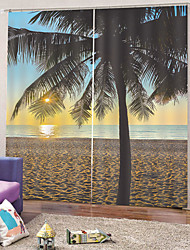 Недорогие -Горячие продажи простой дизайн ткани занавеса сильная прочность толстая водонепроницаемый теплоизоляция затемнение 100% полиэстер занавес для ванной комнаты / гостиной