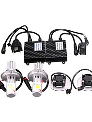 cheap -50W H4 1800LM LED Head Light Lamp White High/Low Beam for Car Truck Motorcycle
