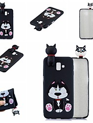 cheap -For Samsung J6 plus 3D Cartoon Lovely Coloured Painted Soft TPU Back Cover Non-slip Shockproof Full Protective Case