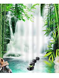 Недорогие -современные 3d печати бамбуковые окна занавески дизайн плотные шторы / кабинет / офис / гостиная