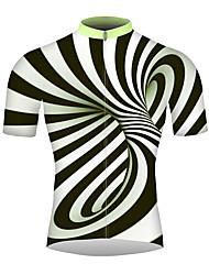 abordables -21Grams 3D Homme Manches Courtes Maillot Velo Cyclisme - Noir / Blanc Vélo Maillot Hauts / Top Respirable Evacuation de l'humidité Séchage rapide Des sports 100 % Polyester VTT Vélo tout terrain Vélo