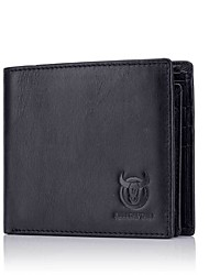 cheap -(Bullcaptain) New First Layer Leather Men'S Casual Business Documents Multi-Card Leather Cross Wallet