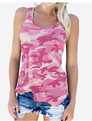 cheap -2019 New Arrival Tanks & Camisoles Women's Plus Size Tank Top - Geometric / Camo / Camouflage Floral Débardeur Femme / Fashion / Print Strap Red XXXL / Spring / Summer / Fall / Winter