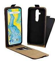 cheap -Case For Nokia 4.2 / Nokia 3.2 Magnetic / Flip / Shockproof Full Body Cases Solid Colored Hard Genuine Leather for Nokia X71 / Nokia 1 Plus / Nokia 2/ Nokia 7.1 / NOKIA 7 Plus/Nokia 6 (2018)/NOKIA 7