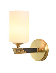 cheap -Nordic Style Copper Wall Sconce Modern Glass Wall Lamp Living Room Dining Room Bedroom Hotel Rooms Bedside Lamp