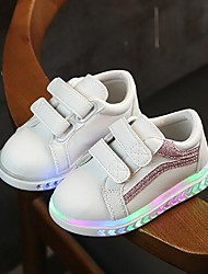 cheap -Girls' LED / Comfort Faux Leather Trainers / Athletic Shoes Little Kids(4-7ys) Running Shoes Luminous Black / Pink / Silver Spring