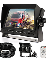 cheap -Rear View Camera Kit with 7 LCD Monitor & 120 Wide Angle Rearview Camera IP68 Waterproof 18IR Night Vision Reversing Camera for Truck Trailer Bus Van Agriculture Heavy Transport (9-32V)