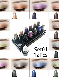 cheap -3 Colors Eyeshadow Glow Odor Free Normal 1 pcs Makeup Daily Cosmetic Health&Beauty Daily Makeup Party Makeup Fairy Makeup Glamorous & Dramatic Fashion Waterproof Long Lasting Convenient Cosmetic