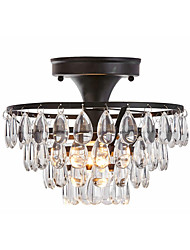 cheap -1-Light Ceiling Lamp Semi Flush Mount Round Nordic Raindrop Crystal Ceiling Lamp Hallway Round Semi-Flush Ceiling Lamp Bedroom Crystal Chandelier