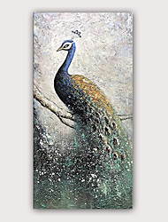 cheap -Oil Painting Hand Painted - Famous Animals Modern Rolled Canvas