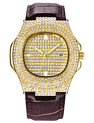 cheap -Couple's Dress Watch Quartz Cool Imitation Diamond Analog Luxury Sparkle - Gold Silver