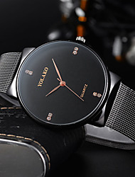 cheap -Men's Dress Watch Quartz Formal Style Stylish Stainless Steel Black / Gold / Rose Gold 30 m Water Resistant / Waterproof New Design Cool Analog Casual Fashion - Black Rose Gold Gold One Year Battery