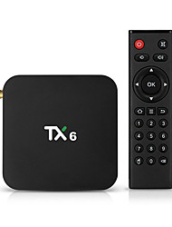cheap -TX6 Smart TV Box Android 9.0 4K IPTV 4GB DDR3 32GB EMMC BT 4.1 Support Dual Wifi 2.4G/5GHz Youtube H.265 Set Top Box