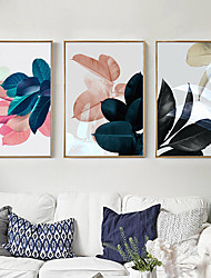 cheap -3Pcs Fashionable Leaf Pattern Canvas Wall Art Painting Printed Picture Home Office Decor