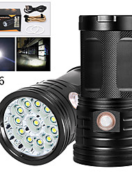 cheap -XM12 LED Flashlights / Torch Waterproof 9600 lm LED LED 12 Emitters Manual 3 Mode with USB Cable Waterproof Professional Anti-Shock Easy Carrying Durable Camping / Hiking / Caving Police / Military