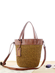 cheap -Women's Bags Straw Top Handle Bag for Daily / Going out Wine / Green / Brown / Straw Bag / Fall & Winter