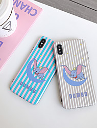 cheap -Case For Apple iPhone XS / iPhone XR / iPhone XS Max Dustproof / IMD / Pattern Back Cover Animal / Cartoon TPU