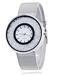cheap -woman girl fashion alloy watch electronic movement casual wristwatch with moving rhinestone