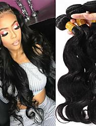 cheap -3 Bundles Brazilian Hair Body Wave Virgin Human Hair Remy Human Hair Headpiece Natural Color Hair Weaves / Hair Bulk Extension 8-28 inch Natural Color Human Hair Weaves Cosplay Classic Easy dressing