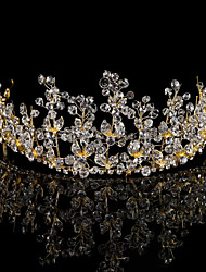 cheap -Alloy Tiaras / Headbands / Headdress with Sparkling Glitter / Crystal / Rhinestone / Floral 1 Piece Wedding / Party / Evening Headpiece