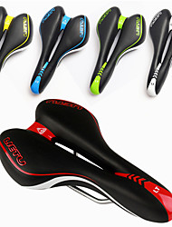 cheap -Bike Saddle / Bike Seat Breathable Comfort Cushion Hollow Design Polycarbonate PU Leather Cycling Mountain Bike MTB Recreational Cycling Fixed Gear Bike Black / White Black / Red Black / Green