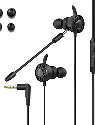 cheap -LITBest T5 Wired In-ear Gaming Earphone Wired Noise Cancelling Stereo Earbud with Removable Microphone for Mobile Phone PC PS4 Xbox