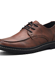 cheap -Men's Comfort Shoes Nappa Leather Summer Business / Casual Oxfords Walking Shoes Breathable Black / Brown / Khaki / Wedding