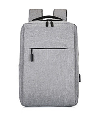 cheap -Large Capacity Oxford Zipper School Bag Solid Color Daily Black / Gray / Wine / Fall & Winter