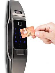 Недорогие -новейшая автоматическая блокировка отпечатков пальцев / домашняя автоматическая электронная карта дверной замок / автоматический интеллектуальный дверной замок