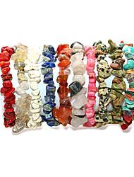 cheap -Women's Bracelet Handmade Link Bracelet Classic Joy Simple Bohemian Natural Cute Stone Bracelet Jewelry Green / Pink / Cool White For Gift Street