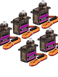 cheap -5Pcs MG90S Mini Metal Geared Micro Servo Motor 9G for RC Helicopter Plane Boat Car