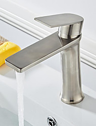 cheap -Bathroom Sink Faucet - Widespread Brushed Free Standing Single Handle One HoleBath Taps