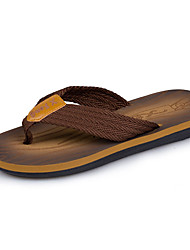 cheap -Men's Comfort Shoes Knit / PU Summer Casual Slippers & Flip-Flops Non-slipping Brown / Gray