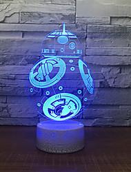 cheap -3D Nightlight Creative Birthday with USB Port USB 1pc