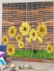 Недорогие -прекрасные шторы подсолнечника плотная плотная ткань легкая установка водонепроницаемый формовочная занавеска для ванной с кольцами