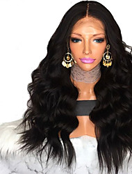 cheap -Synthetic Wig Body Wave Layered Haircut Wig Very Long Natural Black Synthetic Hair 62~66 inch Women's New Arrival Black