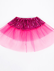 cheap -Children Girl Sequined Mesh Skirt Dance Performance Bubble Skirt