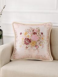 cheap -1 pcs Velvet Others Pillow Cover & Insert, Floral Jacquard European Modern Bed Pillow