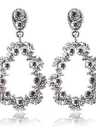 cheap -Women's White Drop Earrings Dangle Earrings Chandelier Flower Shape Dangling Romantic Oversized Earrings Jewelry Silver For Wedding Party Carnival Festival 1 Pair
