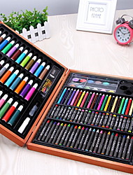cheap -109pcs Deluxe Oily Colored Pencil Painting Drawing Art Supplies for Write Drawing Set for Kids with Plastic Case Light Great Gift for Kids Christmas Gift