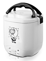 cheap -Electric Rice Cooker 1.2 L Single Portable Multi-function Durable for 1 - 2 person Aluminum Alloy Outdoor Camping / Hiking Traveling Picnic White Rose Red
