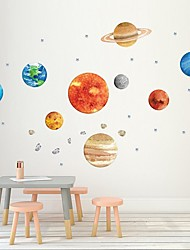 cheap -Nine Planetary Walls With Self-Adhesive Decorative Graffiti Stickers For Planetary Walls Of Creative Children'S Houses Decorative Wall Stickers - Plane Wall Stickers Animals Kids Room / Nursery