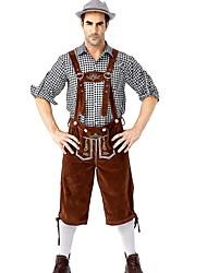 cheap -Oktoberfest Beer Blouse / Shirt Outfits Party Costume Men's Blouse Pants Bavarian Costume Black Red / black Red+Brown / Oktoberfest / Beer