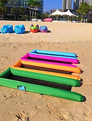 cheap -Inflatable Sofa Sleep lounger Outdoor Waterproof Portable Foldable Inflatable Terylene 250*70 cm Beach Camping Traveling Spring Summer Blue Rough Black Royal Blue
