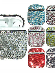cheap -Case For AirPods Water / Dirt / Shock Proof / Rhinestone Headphone Case Hard