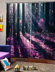 abordables -Rideau de paysage de style européen haute précision matériau épaississant crème solaire 100% polyester rideau salon et chambre rideau en tissu